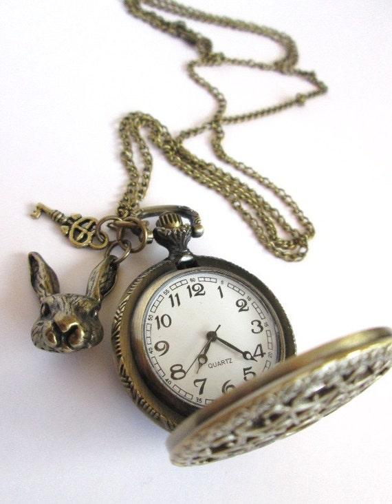 antique gold tale themed pocket pendant necklace