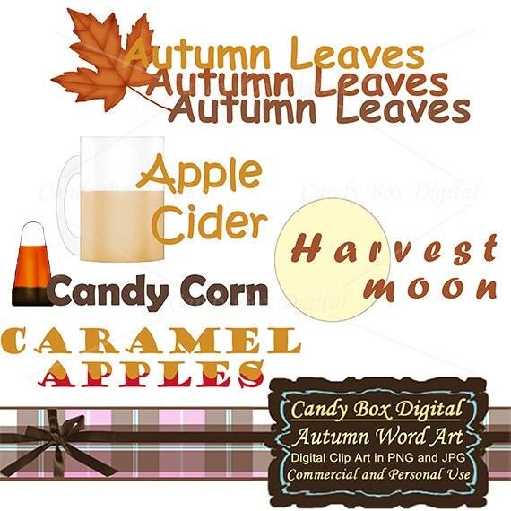 Autumn Clip Art autumn clipart Autumn Word Art by ...