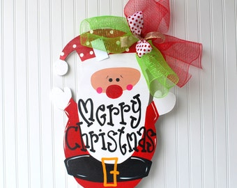 Santa Sign | Santa Wreath | Santa Door Hanger | Christmas Decor | Christmas Door Decoration | Christmas Door Hanger | Christmas Wreath