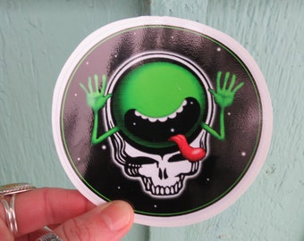 Steal Your Face Hitchhiker's Guide to the Galaxy Grateful Dead High Quality Vinyl Sticker
