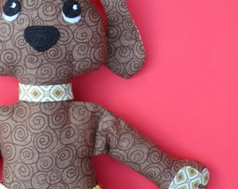 Cotton cloth doll dog  - fancy pants