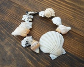 Nautical Bracelet - Handmade Seashell Bracelet - Nautical and Beach Bracelet - Mermaid Jewelry - Scallop and Crown and Limpet Shells