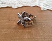Silver Starfish Ring, Starfish Jewelry, Star Fish Ring