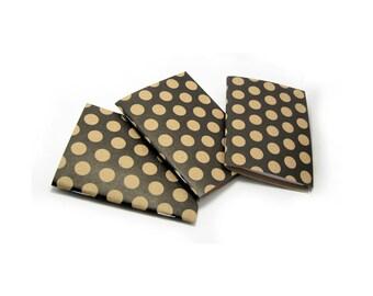 Mini Pocket Notebooks, Soft Cover Notebook, Polka Dot Notebook, Mini Notebook, Mini Polka Dot Notebook, Jotter, Mini Journal,  3x4