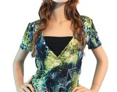 Colorful woman top, breast feeding top
