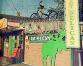 The Fat Pelican Carolina Beach Photo Bicycle Art Hippie Street Travel Photography Pastels Vintage Inspired Coastal Rustic Kure Fort Fisher