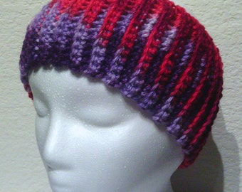Light Purple, Dark Purple, Dark Pink, Fuchsia, Soft, Ribbed Headband, Ear Warmer, Adult, Teen, Child