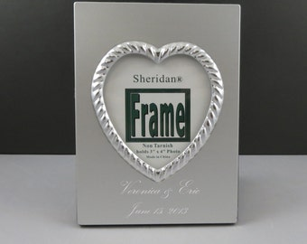 Heart Picture Frame-Personalized-Wedding Gift-Anniversary Gift-Womens gift-