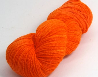 Orion - Hand Dyed Superwash Merino Wool Sport Yarn - Colorway: Safety Orange