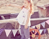 "Girls Open Back/bow top""Nautical Bow"" boutique hand made sizes 12-18month 6-7.....Love Tay Boutique"