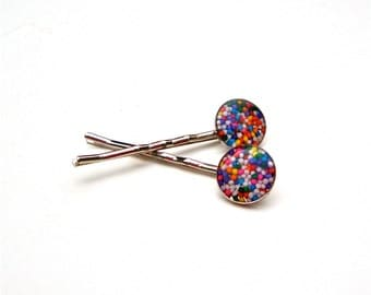 Candy Bobby Pins, Hair Accessories, Colorful Bobby Pins, Candy Hair Clip, sprinkles bobby Pins, Women Accessories, Bath and Beauty