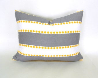 Lumbar Pillow Cover ANY SIZE Decorative Pillow Cover Pillows Home Decor Premier Prints  Lulu Storm Grey Yellow