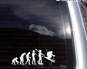 Evolution of Skiing no.3 Vinyl Decal fits car, truck, apple or pc laptop, window sticker K412