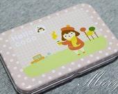 Tin Box Sticker Set - Korean Girl Sticker  - Deco Sticker - Diary Sticker - 12 sheets in - Hello Coco