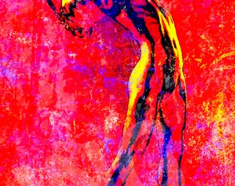 Figurative 65 Instant Digital Download Art Print Picture Grunge Paper Canvas Transfer