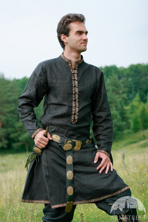 """DISCOUNTED PRICE! Natural Flax Tunic """"Elven Prince"""""""
