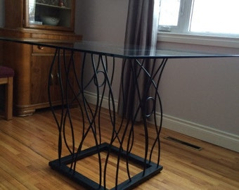 BENT Iron Pedastal Table Base