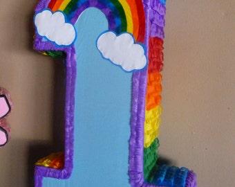 Number One Rainbow Pinata
