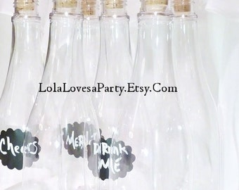 CORK BOTTLES Wedding Party Supply  Bridal Shower /Invitation / baby/ Treasure Map Fish Extender gift/ Clear Plastic  Pirate & Princess Party