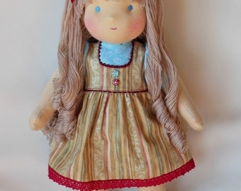 "Waldorf doll 15"" inches, ""Barbara""   - A gift for birthday - girl"