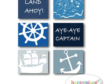 Pirate Wall Art Set of Posters for Boys Bedroom or Nursery. 8x10 or 11x14in Instant Download digital files-Colour 14