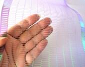 Purple Long Grid Sequin Waste Extra Wide Punchinella Blue Violet Shiny Iridescent Trim Punchinello DIY Stencil Scrapbook Ephemera
