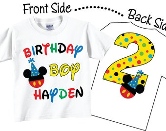 Birthday Boy 2nd Birthday Shirts Tees