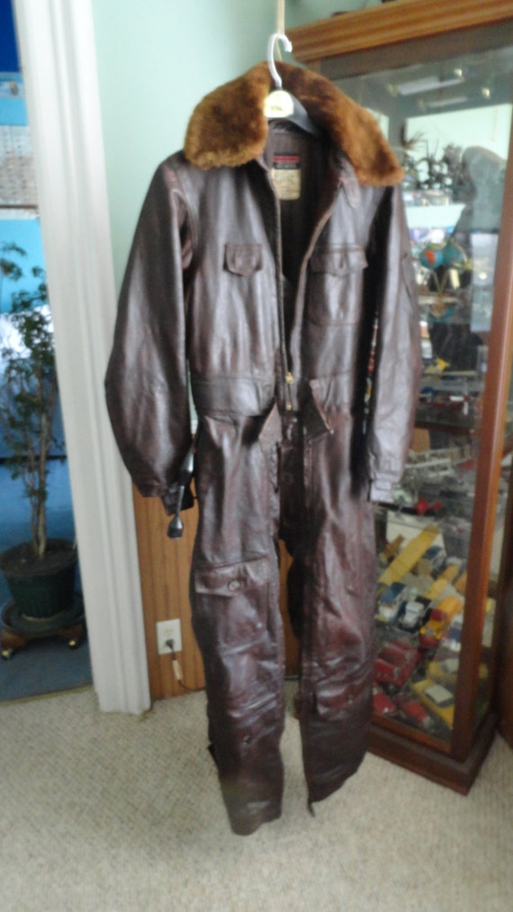 Ww 2 Heated Leather Flight Suit By Hapinstance On Etsy
