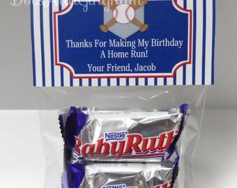 Baseball Printable Treat Bag Toppers - Baseball Printable Party Favor-Baseball Favor Bag Topper-Baseball Treat Bag Topper-Baseball Party