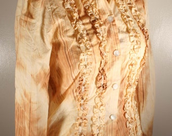 Victorian Steampunk ruffle front blouse