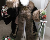 CUSTOM ORDER: Handmade Old World Santa with Real Vintage Fur (to order a custom santa, purchase this listing & send preferences in message)