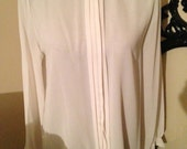 SALE 80s Silk Victorian Looking Blouse