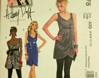 """Tunic & Dresses by Hilary Duff - 2000's - McCall's Pattern 5878 Uncut  Sizes 4-6-8-10-12   Bust 29.5 to 34"""""""
