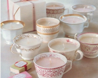 Make Your Own Teacup Candle Instruction and Images