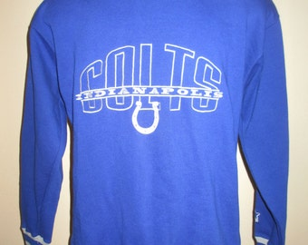 Football Sweatshirt Indiana Indianapolis Colts Blue Starter Pullover Size Large
