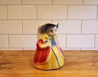 """They'll Come Home… Vintage 1940s Shawnee """"Bo Peep"""" Pitcher, Airbrushed and Hand Painted"""