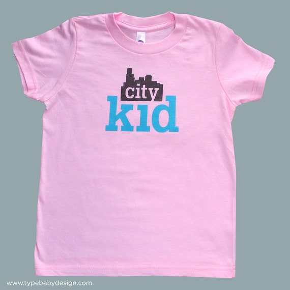 City Kid toddler & kids tee - pink