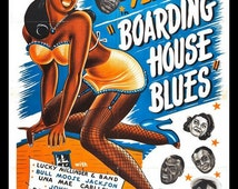 Fridge Magnet image of movie poster for Boarding House Blues black Americana film moms Mabley