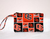 Oregon State  Beavers Wristlet Pouch or Cross Body Bag Digital Camera Smart Phone Bag iPod Bag Small Tech Bag