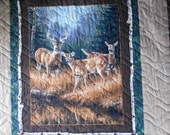 ON SALE! Autumn Deer Queen Quilt