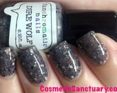 Dire Wolf Nail Polish - grey lacquer with non-sparkly glitter