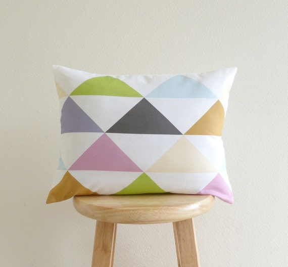 Colorful Triangle Cushion Cover (various sizes) | GeometricElectric Handmade Modern Home Decor