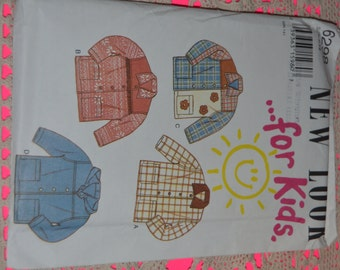 New look 6298 CHilds Jacket Sewing Pattern - UNCUT -Size 7 - 12
