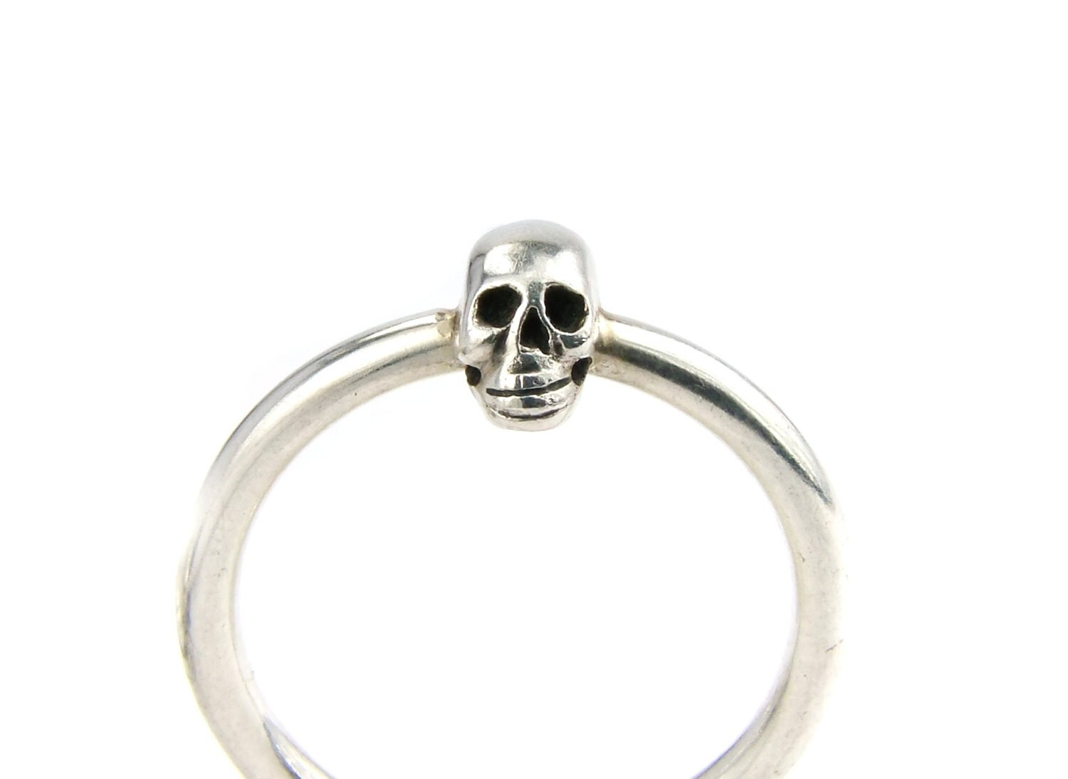 small skull ring silver skull ring ladys tiny skull ring