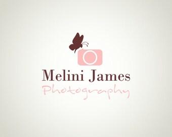 Premade Logo Design and Watermark Photography logo Butterfly logo Camera Logo Cute Logo Custom Logo Business Logo Logo Designer
