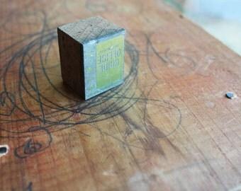 on SALE: Shaw Walker Office Guide vintage ad  letterpress stamp piece printer's block
