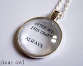 Always - Harry Potter Fandom Necklace (Curious Owl)