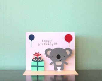 Pop Up Card - Koala - Happy Birthday