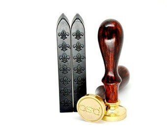 2 Black Non-Wick Sealing Wax Stick for Wax Seal Stamp