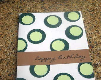 Green Polka Dot Greeting Card - Set of 25